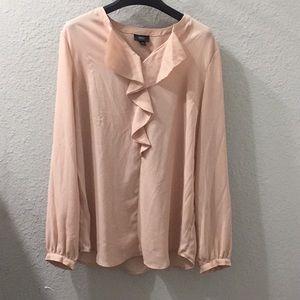 Mossimo Salmon pink ruffled blouse